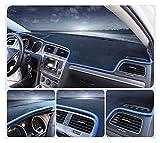 Wjyfexble Dashboard de voiture couverture Dash Mat Sun Sun Shade Dashmat Pad Tapis Protecteur d'automobile anti-UV pour Peugeot 307 hnwyj (Color Name : Blue Edge)