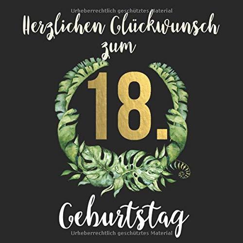 Herzlichen Glückwunsch zum 18. Geburtstag: Das mit Vornamen personalisierte Fotoalbum I Erinnerungsbuch I Eintragealbum mit durchdachten ... zum 18. Geburtstag für Sohn, Freund etc.