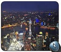 上海の都市景観カスタマイズされたマウスパッド長方形マウスパッドゲーミングマウスマット