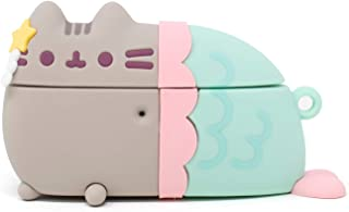 iFace x Pusheen Cute Silicone Protective Cover Designed for AirPods Pro Case [Carabiner Clip Included] [Wireless Charging ...