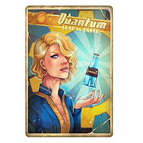 muzi928 Cartel de Metal Cartel de Chapa Vintage Fallout 3 4 Juego Carteles de Chapa de Metal Wall Art Print Stickers para Pub Bar Club Shop Decoración del hogar Nuka Cola Poster 20x30cm YB0009B