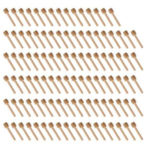 100 Palillos De Madera Paquete Mini Miel Cazo De Paquetes In