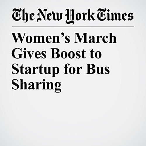 Women's March Gives Boost to Startup for Bus Sharing copertina