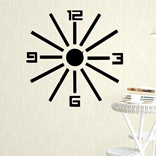 Clock Pattern Wall Art Decal Wall Art Sticker Murals Home Decoration Accessories for Living Room Wall Art Decal Gray L 43cm X 43cm