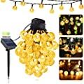 LILCKLIP Solar String Lights, 40ft 100 LED (?1.0 inch) Outdoor Globe Bulb String Lights, Waterproof 8 Modes Solar Patio Light for Patio, Garden, Gazebo, Yard, Outdoors, Wedding, Christmas (Warm White)