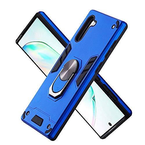 Hülle für Samsung Galaxy Note10 mit Standfunktion, PC + TPU Rüstung Defender Ganzkörperschutz Hard Bumper Silikon Handyhülle stossfest Schutzhülle Case (Dunkelblau)