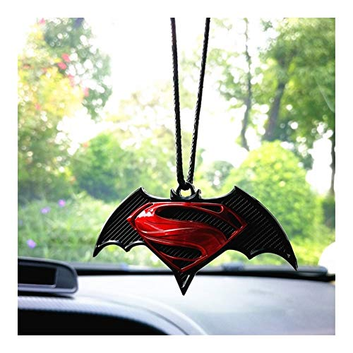 SUJIE Rear View Mirror Decoration 3D Metal Cartoon Automobile Car Rearview Mirror Decoration Hanging Ornament Auto Interior Decor Pendant Car Styling Gift