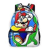 Super Mario Mochilas para niños mochila escolar Mario Bros 3D impreso dibujos animados bolsa escolar para niños estudiantes de escuela primaria y media