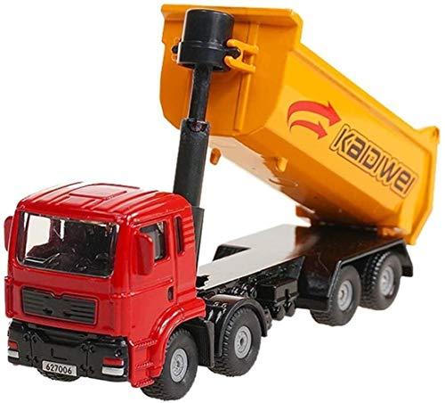 Juguete 1:72 en metal fundido de aleación de coches de juguete camión volquete Camión Transportador de simulación de vehículos Fabricación de modelos chicos y chicas regalos Collection cognitiva Model