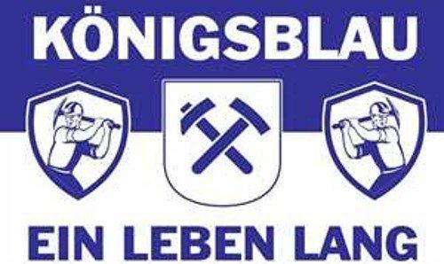 TS24direkt Gelsenkirchen Fahne ca. 90 x 150 cm - Königsblau - EIN Leben lang