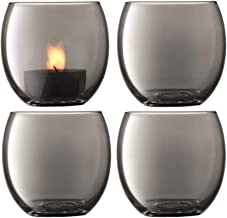 LSA International ZI05 Zinc Tealight Holder H6.5 cm Sheer Zinc x 4