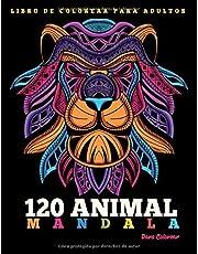 Libro de Colorear Para Adultos : 120 Animal Mandalas Para Colorear: 120 Animal Mandalas Para Colorear | Diseños de animal mandala para aliviar el ... | Hermosas Animal Mandalas Libro Par