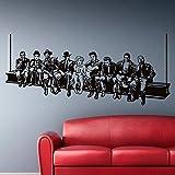 Hollywood Lunch Wall Sticker Decals de la pared de la estrella de cine Estilo americano Decoración del hogar Mural Decoración de la casa para la sala de estar o sea 161 * 70Cm