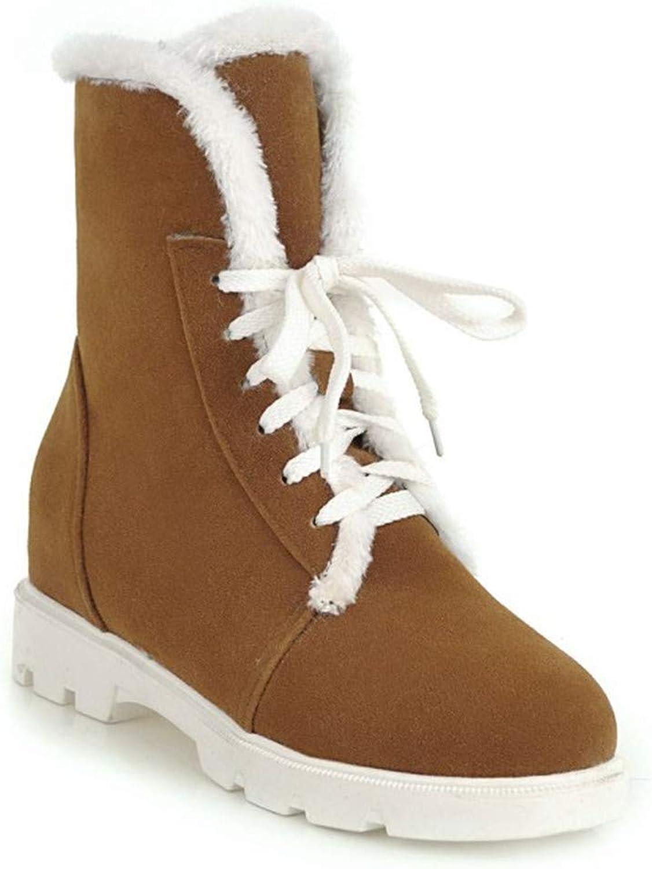Stiefel  Damen Schnürstiefel Größe  Schneeschuhe Kurze Stiefel  runde Spitzen-Sandalen aus Spitze  | Charmantes Design