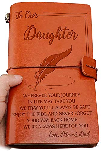 To Our Daughter Leather Journal Enjoy The Ride Writing Journey Journal...