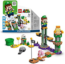 LEGO 71387 Super Mario Adventures with Luigi Starter Course Toy, Interactive Figure and Buildable Ga
