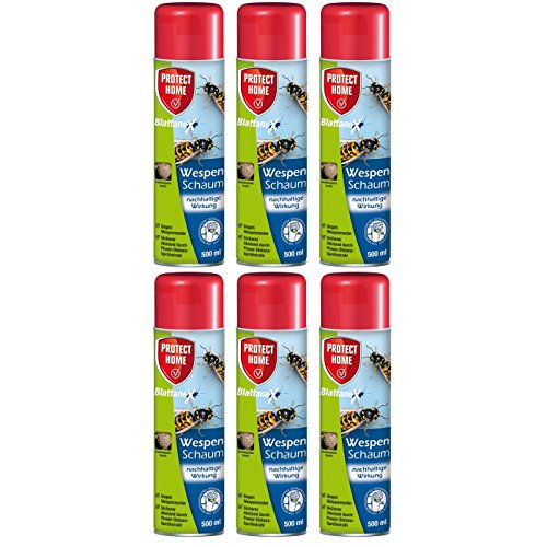 Preisvergleich Produktbild SBM Protect Home GARDOPIA Sparpaket: 6 x 500ml Blattanex Wespenschaum Wespenspray mit spezieller Powerdüse + Gardopia Zeckenzange mit Lupe