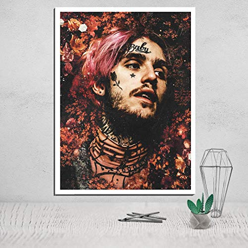 QianLei Lil Peep Photo Canvas Poster Tableau Decoration Murale Salon Carteles Pinturas en la Pared Deco Home-30X45 CM Sin Marco