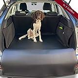 PaulePet Kunstleder Kofferraumschutz Hund in 4 Größen - Universale Autodecke für Kombi, SUV - Kofferraumschutzdecke mit Ladekantenschutz wasserabweisend & pflegeleicht (XL)