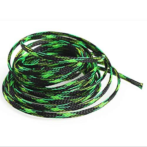 F-Mingnian-rsg 1 stuk 2/4/6/8/10/12/15/20/25 mm geïsoleerde gevlochten hulzen Tight PET uitbreidbaar kabelmanchetten draad slinger 5 m/10 m beschermkabel (kleur: 10 m)