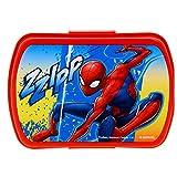 Spider-Man- Sandwichera Plastico de Spiderman (Kids Euroswan SP18001)
