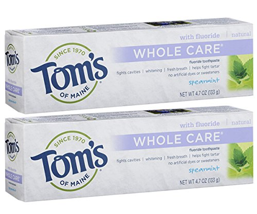 Tom's of Maine Whole Care Fluoride Toothpaste, Natural...