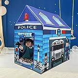 WZXHN Tragbares Kinderzelt Spielzeug Spielhaus Safe Nicht verblassende Indoor Jungen Polizei...