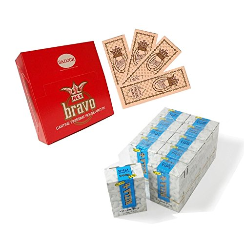 4000 CARTINE BRAVO REX CORTE REGULAR FINISSIME + 4500 FILTRI RIZLA SLIM 6 mm