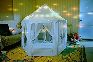 Laylala Kids Play Tent Children Large Playhouse Indoor/Outdoor Play Fairy Princess Castle Tent, Portable Fun Perfect Hexag...