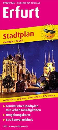 Erfurt: Touristischer Stadtplan mit Sehenswürdigkeiten und Straßenverzeichnis. 1:14000 (Stadtplan / SP)
