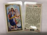 Holy Prayer Cards for The Novena to Archangel Uriel in English Set of 2 HC9-535E