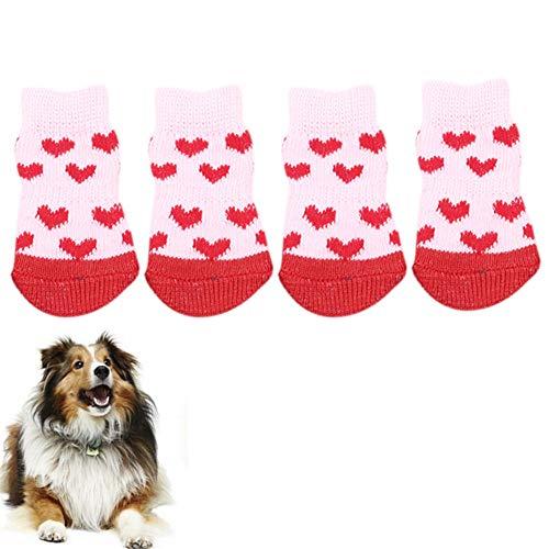 WPCASE Botas para Perros Zapatos para Perros Botines de Perro Botas de Perro para Las Patas dañadas Impermeables Perro Calcetines Perro Botas de Lluvia Pink,l