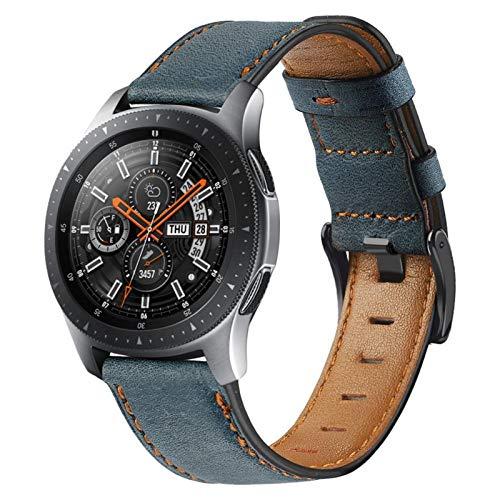 MPWPQ 22mm Watch Band para Samsung Galaxy Watch 3 45 / 46mm para Amazfit GTR 47mm / para Gear S3 Frontier Leather Correa para Huawei Watch GT 2 / 2e Strap Strap Strap