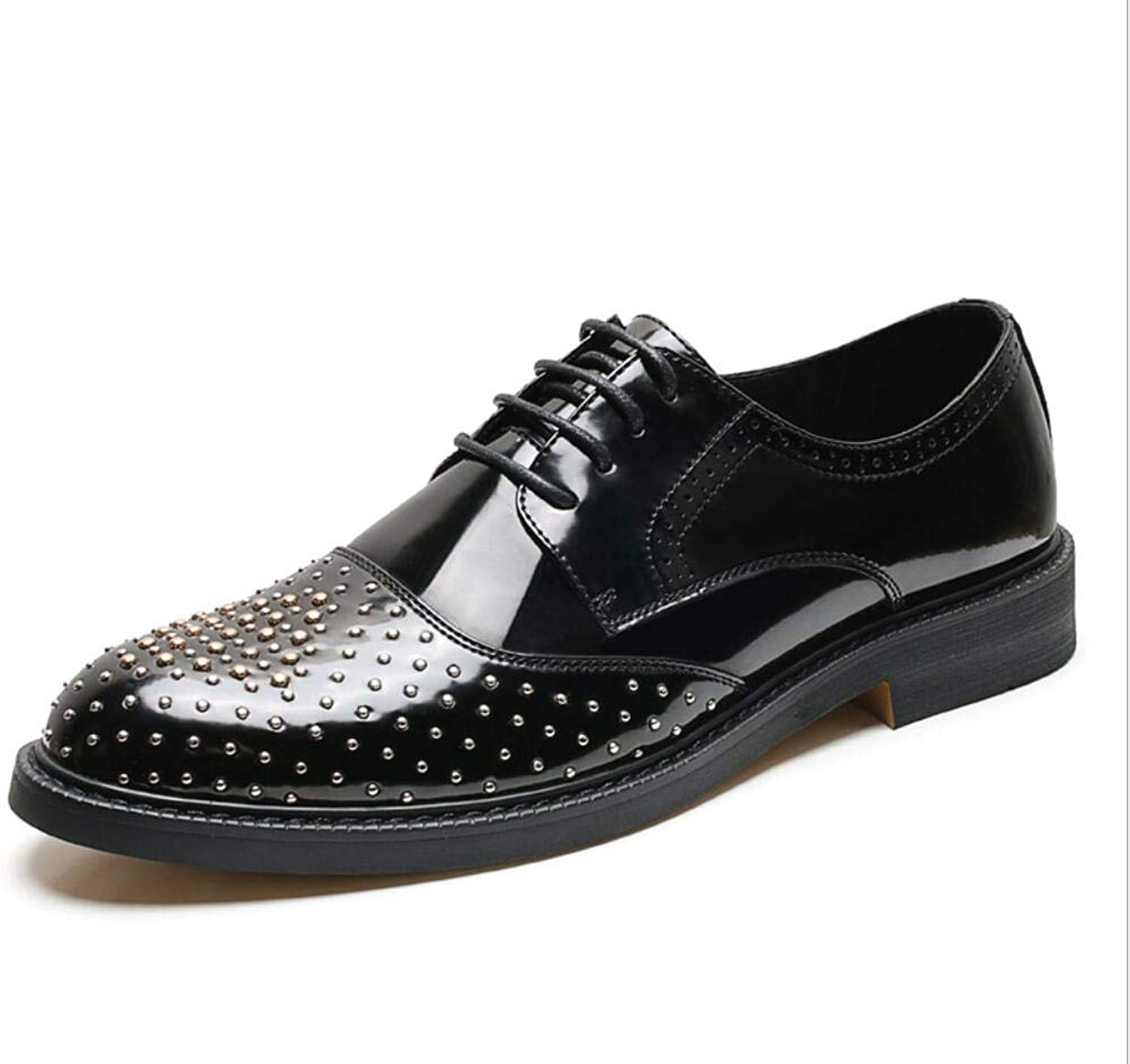 Men's Rivet shoes Leather Loafers & Slip-Ons Driving shoes Platform shoes Comfortable Sparkling Glitter Studded shoes Night Club Stage Personality for Wedding Party & Evening