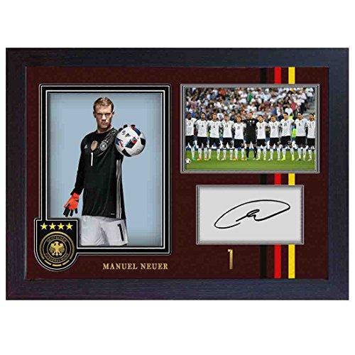 S&E DESING Manuel Neuer Deutschland N.T. Bayern München Foto Autogramm, gerahmt