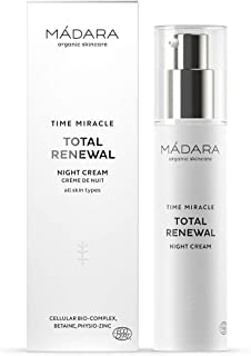 MÁDARA Organic Skincare | Time Miracle Total Renewal Night Cream - 50ml, With multi-molecular Hyaluronic Acid and balancin...