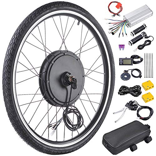 ReaseJoy 26' Front E-bike Motor Kit E-Bike Wheel Conversion Electric Bicycle Kit 36V 750W with LCD Display & 5 Model PAS