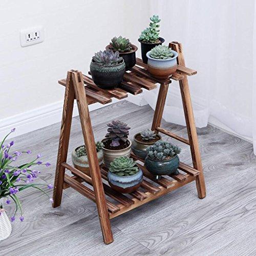 Plantenstandaard voor bloemen, massief hout, bloemenstandaard, bloemenbakhouder voor balkon, overkapping voor meerlaagse planken voor driedimensionale bloemen, XXT