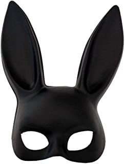 Boogaa Bunny Mask, Masquerade Rabbit Mask for Birthday Easter Halloween Cosplay Party Costume Accessory Black