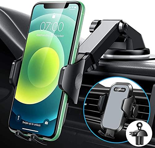 VANMASS Handyhalterung Auto 2021 Version kfz Handyhalterung auf Armaturenbrett Windschutzscheibe Lüftung Auto Smartphone Halter 100{379b60c39245cab7adb2135d77c65036586d25e2987015874ffb559f08056802} Kratzschutz Universal für alle Handys wie iPhone Samsung Huawei LG