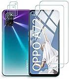 Protector de Pantalla para OPPO A72 / OPPO A52 Cristal Templado Protector para OPPO A72, [Cobertura máxima][Sin Burbujas] HD Cristal Vidrio Templado