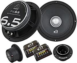 Massive Audio PK6S - 6 Inch / 6.5 Inch, 500 Watts Max / 250w RMS, 4 Ohm, PK Series, Pro Audio Style Shallow Mount Component Kit for Car Audio Speaker Systems (Sold As Pair)