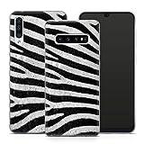 Handyhülle Tiermuster für Samsung Silikon MMM Berlin Hülle Leopard Zebra Schlange Fell Federn, Kompatibel mit Handy:Samsung Galaxy S20 FE, Hüllendesign:Design 3 | Silikon Klar