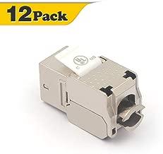 VCE 12 Pack RJ45 Cat6A Shielded Metal Keystone Jacks UL Listed