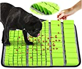 MXI'S LICHT Alfombra Olfativa Perros Snuffle Mat para Perros ,Juguetes para Perros Alfombrilla Perros Juguete Perro Interactivo Alimentador Lento para Perros Gatos Juguetes de Alimentación (Verde)
