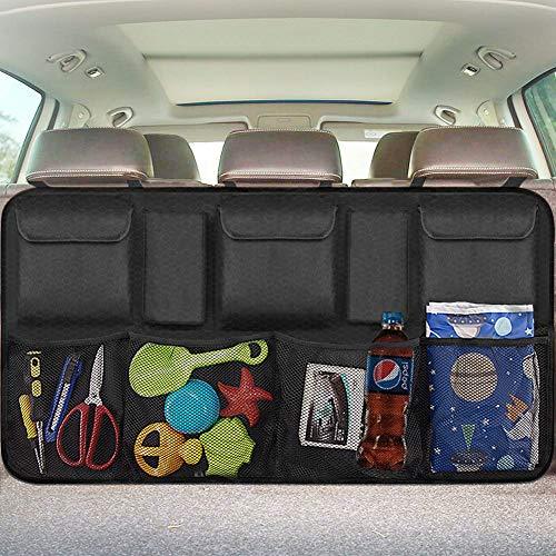 GEEDAR Trunk Organizer for Car with Cover Cargo Organizer with Lid Non-Slip Bottom with Tie Down Straps Bag for Toyota Hyundai Mazda KIA Subaru Minivan Jeep SUV