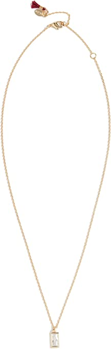 Shashi Women's Baguette Solitaire Necklace