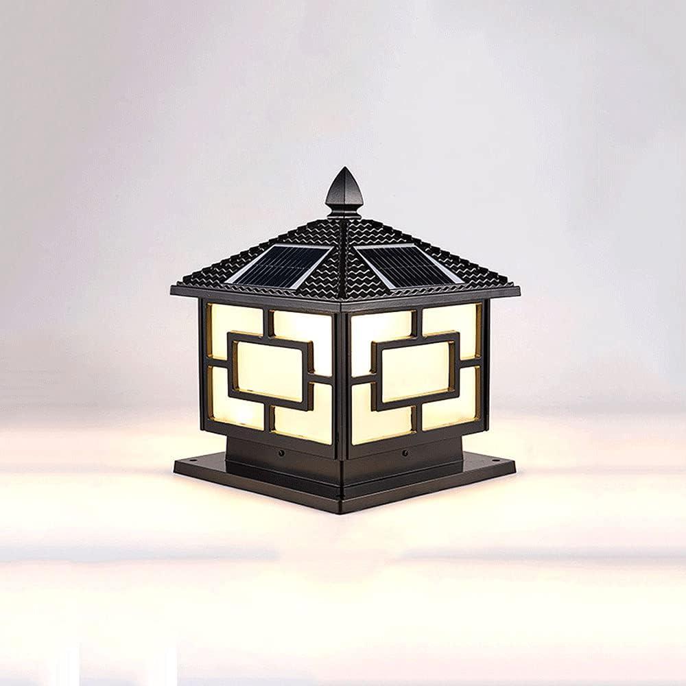 New arrival KAIKEA Max 64% OFF Classic Square Solar Column Light Post Lantern Modern Gar