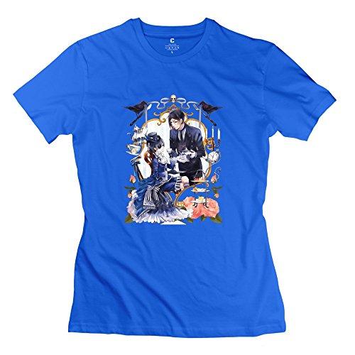 Mjensen - Camiseta de manga corta para mujer, diseño de libro de circo, color blanco