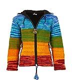 KUNST UND MAGIE Damen Strickjacke Goa Wolle Jacke mit Fleecefutter, Size/Größe:46
